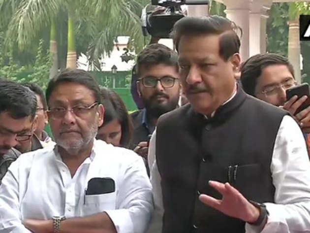 एनसीपी-कांग्रेस बैठक के बाद पृथ्वीराज चव्हाण की पीसी