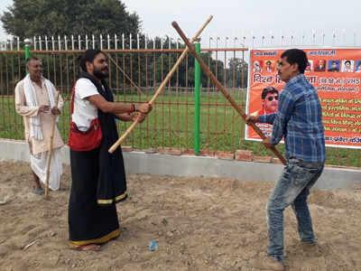 विश्व हिंदू सेना ने आयोजित की शस्त्र पाठशाला