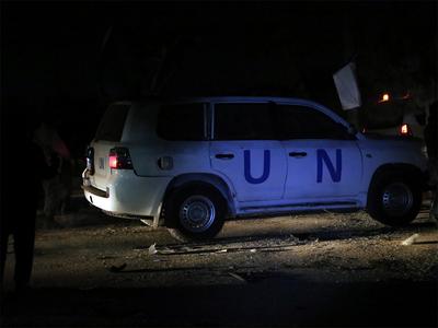 संयुक्त राष्ट्र के वाहन पर हमला