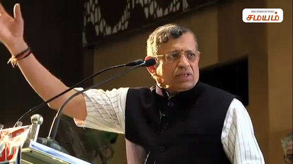 gurumurthy criticised ops and his controversy speech video