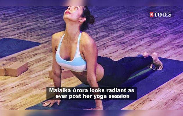 पोस्ट योगा विडियो में ग्लोइंग दिखीं मलाइका अरोड़ा
