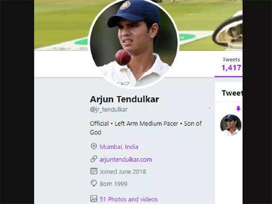अर्जुन, साराचे ट्वीटरवर अकाउंट नाहीः सचिन