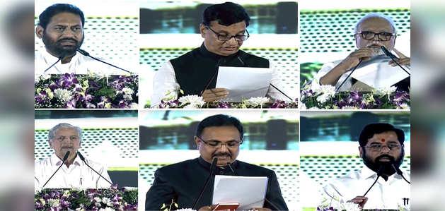 महाराष्ट्र: NCP, कांग्रेस और शिवसेना के नेताओं ने कैबिनेट मंत्री के रूप में ली शपथ