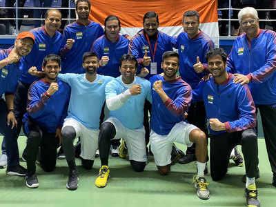 डेविस कप: लिएंडर पेस की रेकॉर्ड 44वीं जीत, भारत ने पाकिस्तान को किया चारों खाने चित