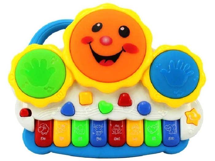 Techhark Drum Keyboard Musical Toys (Drum Toys)