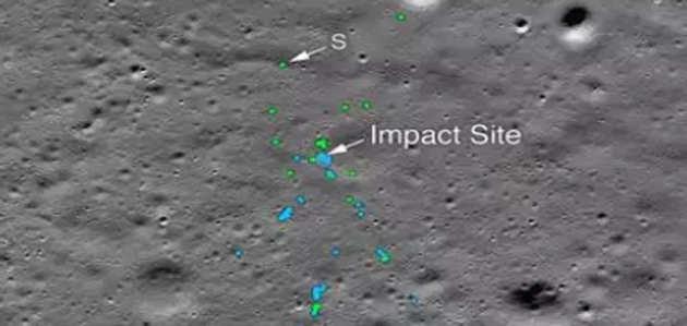 नासा की तस्वीर में दिखा चंद्रमा की सतह पर चंद्रयान-2 के विक्रम लैंडर का मलबा