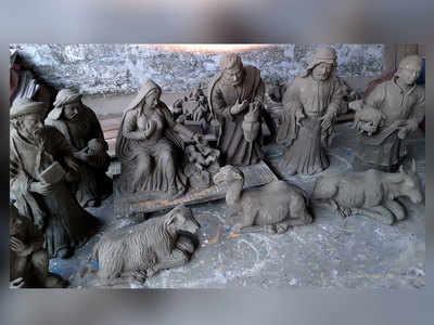 गंगा मिट्टी से बनी मूर्तियां