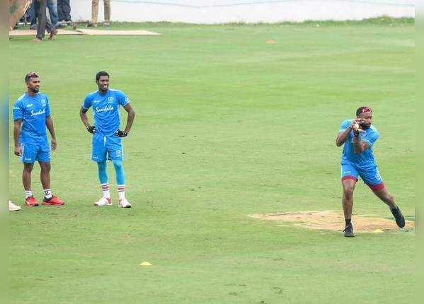 वेस्ट इंडीज टीम कर रही है मेहनत