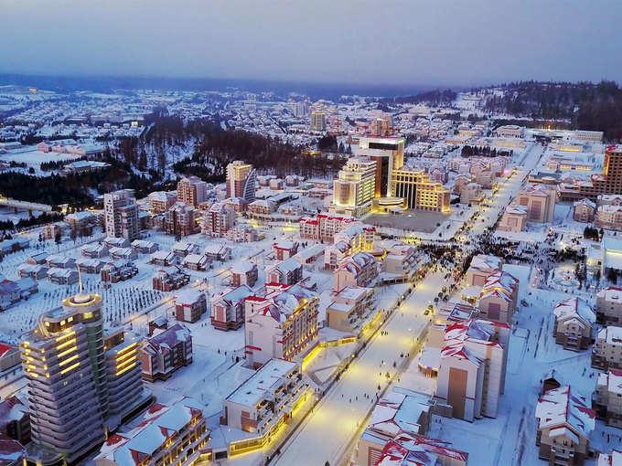 fake-town-made-by-north-korea-s-border-North Korea का नकली शहर