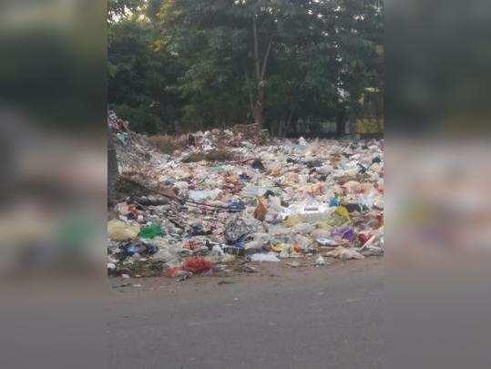 एक किलोमीटरपर्यंत कचऱ्याची दुर्गंधी