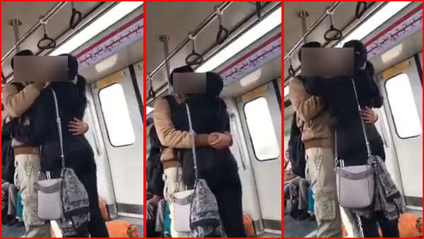 young couple caught kissing in delhi metro video goes viral