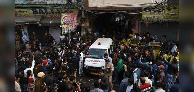 अनाज मंडी आग: पुलिस का दावा, बिल्डिंग को फायर एनओसी नहीं दी गई थी