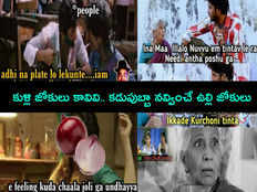 telugu memes and jokes on onion price hike