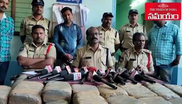 watch khammam police seize ganja in sathupalli