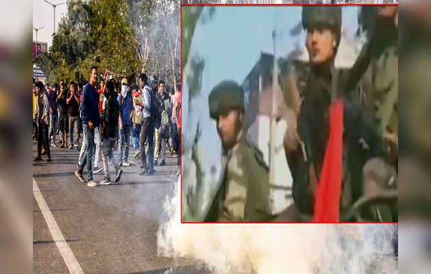 नागरिकता बिल विरोध: गुवाहाटी में लोगों ने किया कर्फ्यू का उल्लंघन, सेना का फ्लैग मार्च