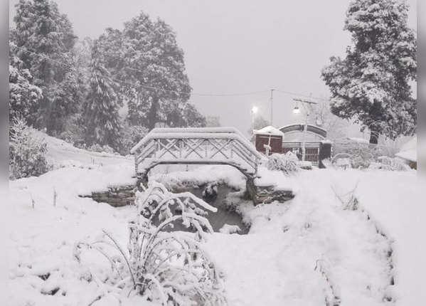 सरोवर नगरी में बर्फबारी