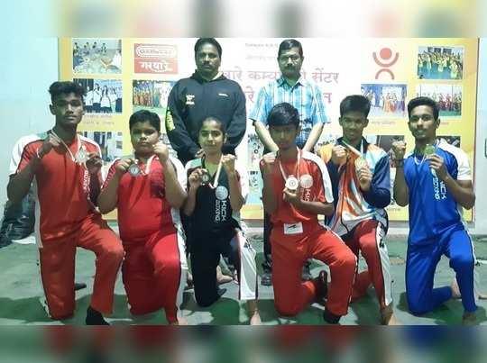 किकबॉक्सिंग स्पर्धेत औरंगाबादला पाच पदके