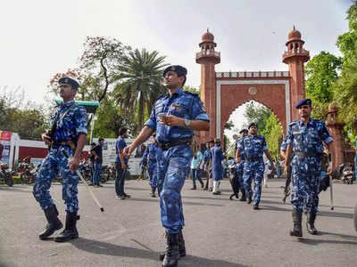 अलीगढ़ में हिंसा के बाद सुरक्षाबल मुस्तैद