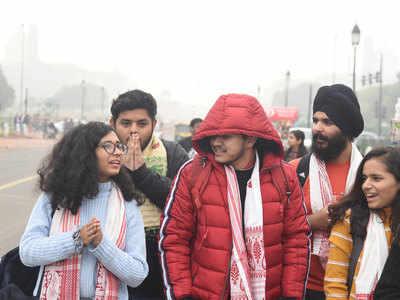 दिल्ली में बढ़ी ठंड