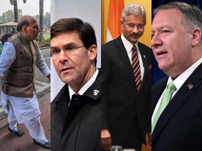 भारत-अमेरिका के बीच मंत्रीस्तीयर वार्ता।