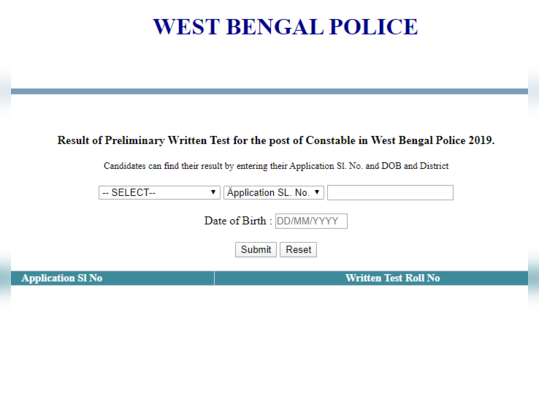 wb constable 2019 result