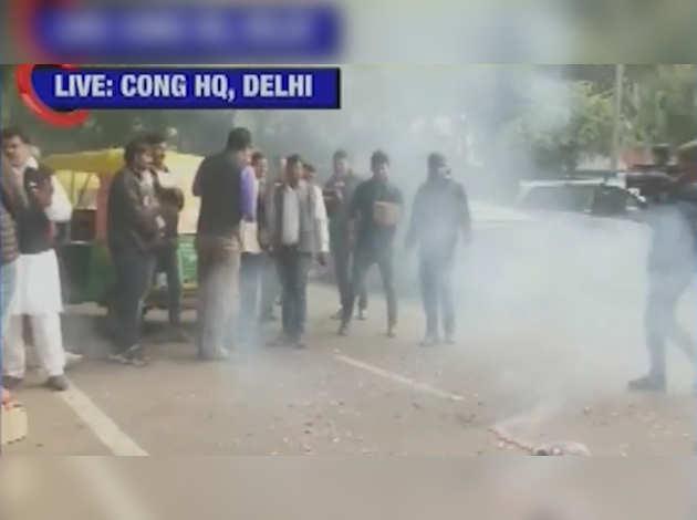 झारखंड चुनाव परिणाम: कांग्रेस मुख्यालय में कार्यकर्ताओं ने जश्न मनाना शुरू किया