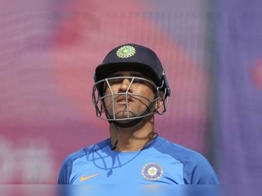 Manchester: Indias MS Dhoni leaves after batting in the nets during a training...