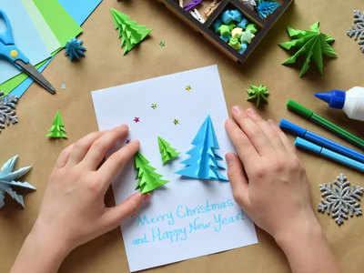 अपने हाथों से बनाएं क्रिसमस कार्ड