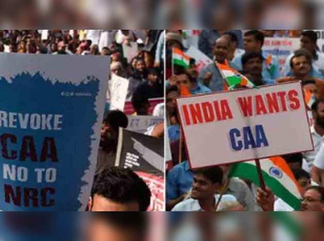 मुंबई में नागरिकता कानून के खिलाफ और समर्थन में हुए बड़े प्रदर्शन
