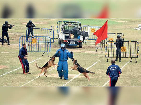 Mock fighting arranged by Kolkata police to tackle terror attack