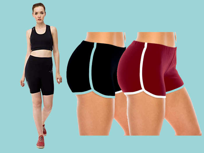 Gym and yoga shorts for women
