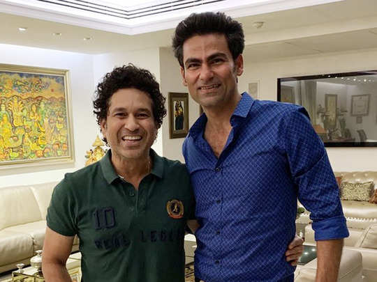Sachin with Mohammad Kaif