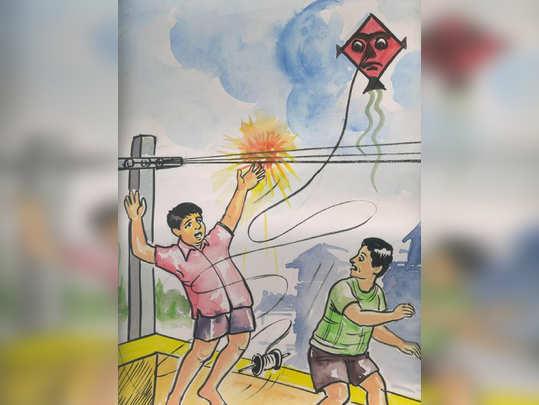 पतंग उडवताना सावधानता बाळगा