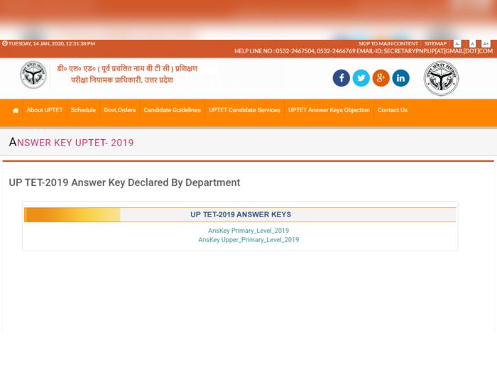 uptet answer key 2019 paper 2 pdf