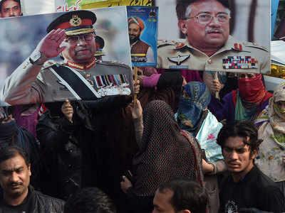 मुशर्रफ के समर्थक सजा का कर रहे विरोध
