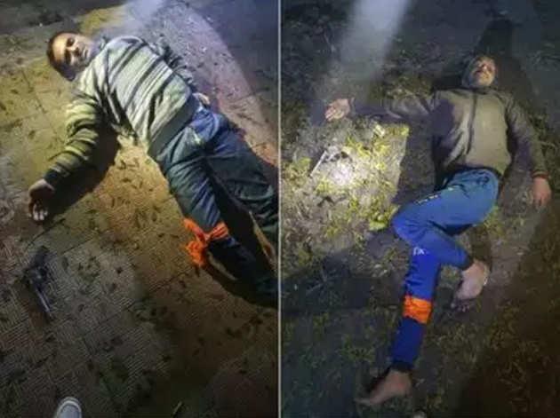 पुलिस ने एनकाउंटर में आरोपियों के पैर में मारी गोली