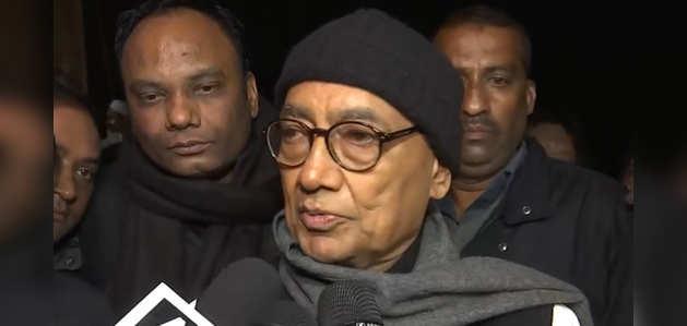 शाहीन बाग पहुंचे दिग्विजय सिंह, कहा-'CAA, NRC जैसे कानून संविधान के खिलाफ'