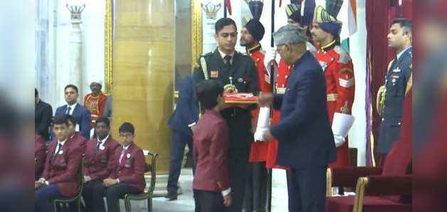 'बाल बहादुरों' को राष्ट्रपति ने दिया प्रधानमंत्री राष्ट्रीय बाल पुरस्कार