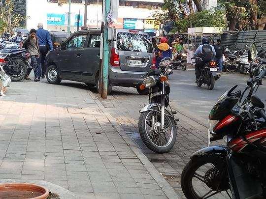 पार्किंग नियमभंग