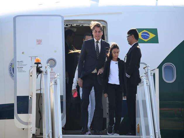 दिल्ली पहुंचे ब्राजील के राष्ट्रपति