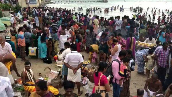 rameshwaram hindu pilgrims thai amavasai