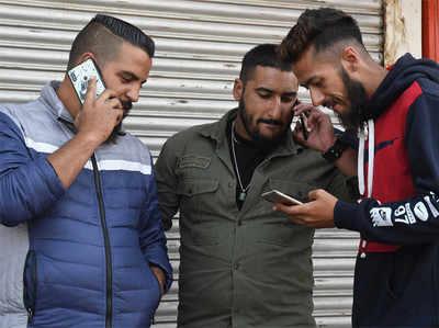कश्मीर में लंबे इंतजार के बाद इंटरनेट बहाल