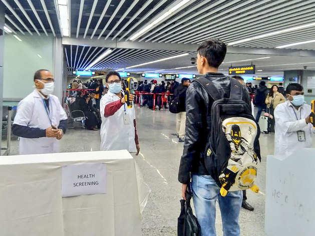 चीन से आ रहे लोगों की एयरपोर्ट पर हो रही स्क्रीनिंग