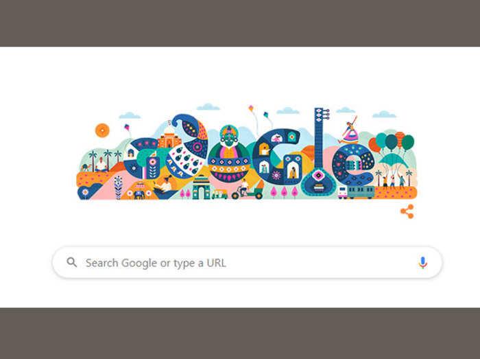 India Republic Day: गूगल ने बनाया खास डूडल, मना रहा 71वां गणतंत्र दिवस