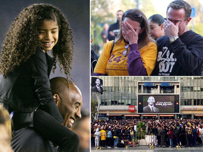 चॉपर क्रैश में NBA स्टार की मौत, जर्सी संग रोते दिखे लोग