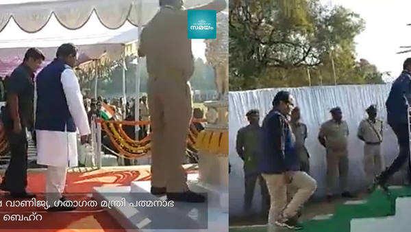video of man holding odisha minister padmanabha behera s shoes goes viral