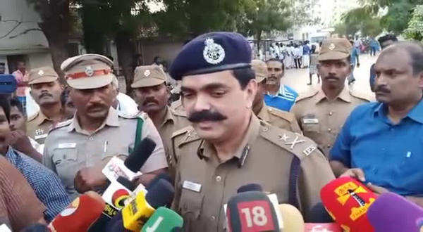 trichy city police commissioner spoke about bjp cadre murder
