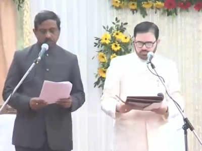 साधारण समारोह में दिलाई गई मंत्री पद की शपथ
