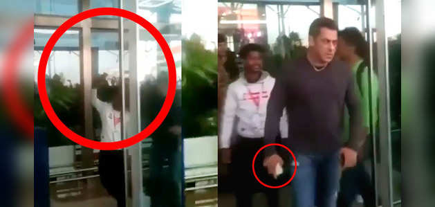 Salman Khan stuns fan trying to click selfie with him at airport