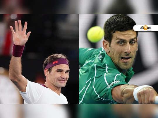 Roger Federar and Novak Djokovic